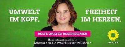 Grüne Bundestagskandidatin Beate Walter Rosenheimer