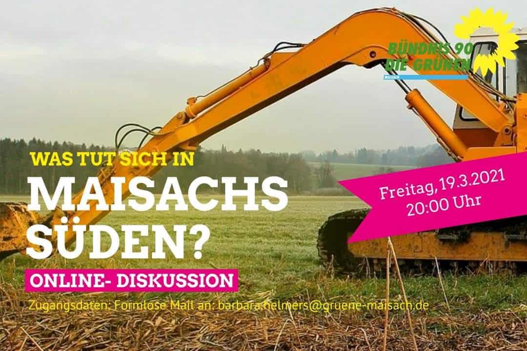 Online-Diskussion: Was tut sich in Maisachs Süden?